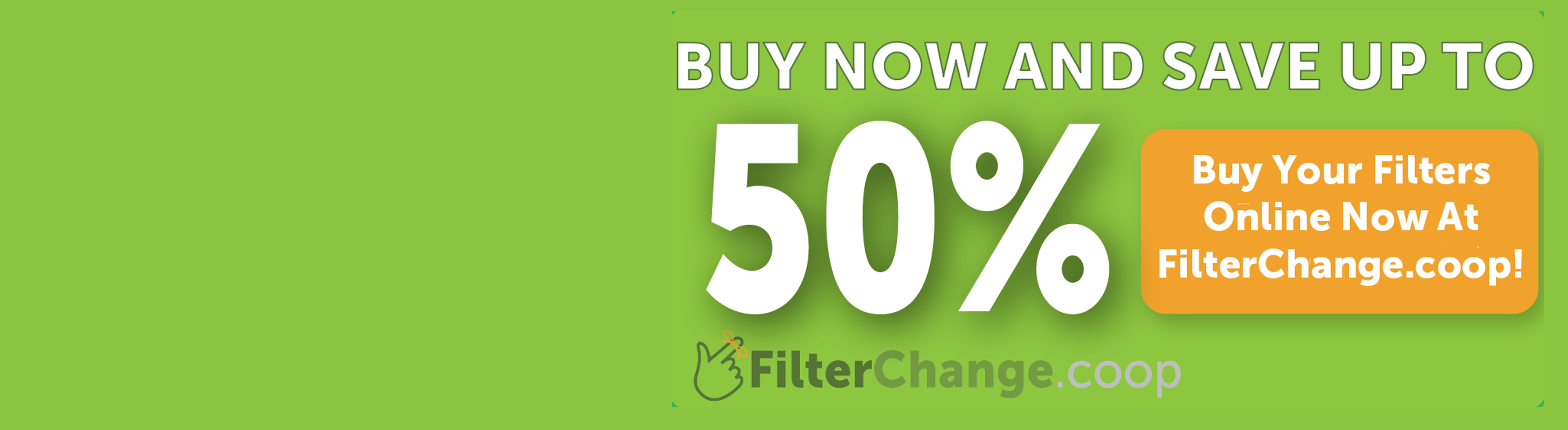 Save up to 50% on Filters