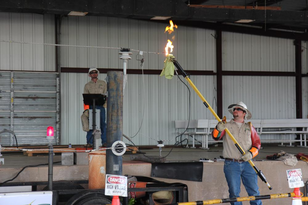 Justin Whited & Mike Proske presented an electric safety program at the Progressive Ag Safety Day